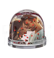 Boule transparente photo (coeurs)