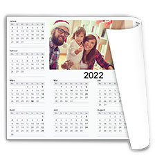 Calendrier de bureau photo A2 (impression recto, papier premium mat satiné)
