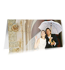 Greeting cards long fold L - set of 10 (single-sided printing)