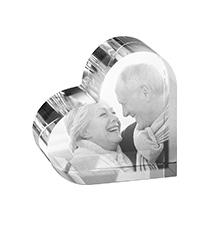 Freestanding crystal photo (heart-shaped)