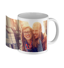 Photo mug white inside (panoramic)
