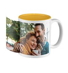 Photo mug yellow inside (panoramic)