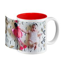 Photo mug red inside (panoramic)