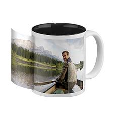 Photo mug black inside (panoramic)