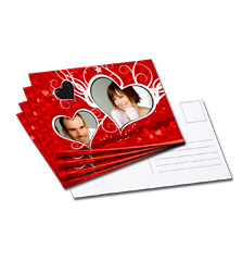 Tarjetas postales de diseño M - set de 10 (impresas por un lado, papel tipo tarjeta brillante)