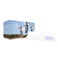 Carte postale L - Lot de 10 cartes (impression recto,  papier carte brillant)