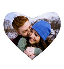 Heart-Shaped Photo Cushion