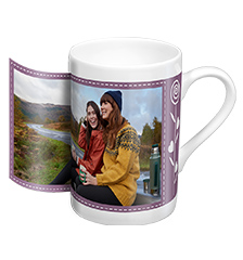 Design porcelain photo mug (panoramic)