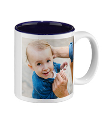 Photo mug blue inside (classic)