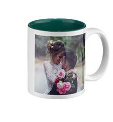 Mug photo intérieur vert (classique)