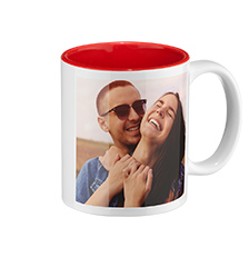 Photo mug red inside (classic)