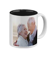 Photo mug black inside (classic)