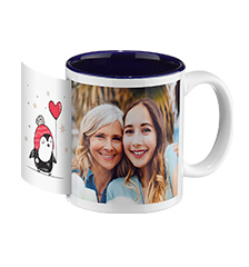 Design photo mug blue inside (panoramic)
